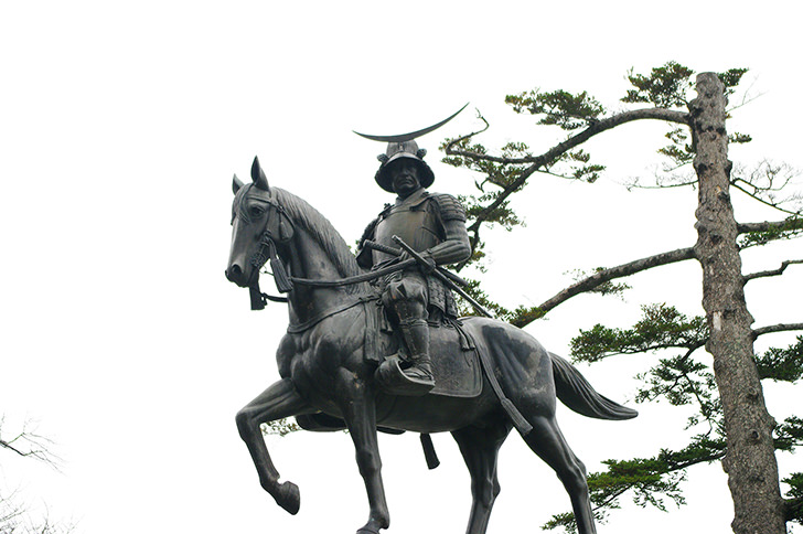 Statue of Date Masamune Free Photo