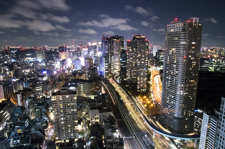 Night view in Tokyo Free Photo
