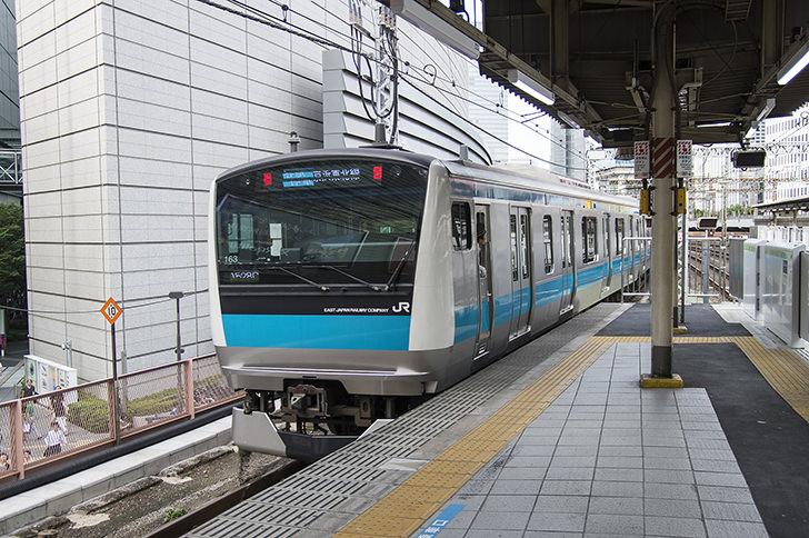 JR京浜東北線の商用利用可能なフリー写真素材