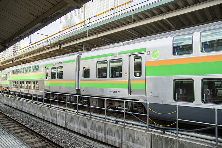 JR東海道線の商用利用可能なフリー写真素材
