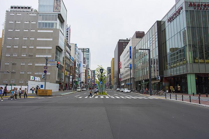 札幌駅前通りの商用利用可能なフリー写真素材
