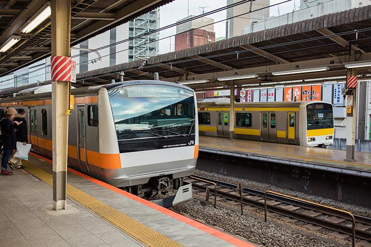 中央線快速 E233系と総武線 E231の商用利用可能なフリー写真素材