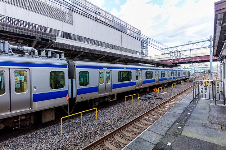 柏駅に止まる常磐線E531系の商用利用可フリー写真素材5901 | フォトック