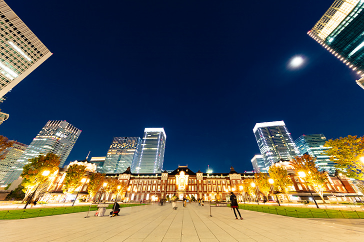 夜景(東京車站) Free Photo
