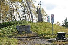 定山渓国道碑のフリー写真素材