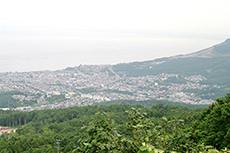 毛無山から見た小樽市街のフリー写真素材