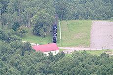 毛無山から見た景色のフリー写真素材