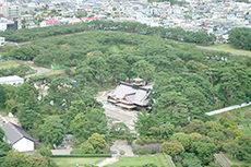 五稜郭から見た景色のフリー写真素材