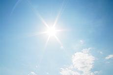 太陽のフリー写真素材