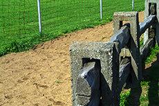 木柵のフリー写真素材