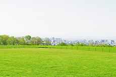 羊ヶ丘展望台から見える札幌方面のフリー写真素材