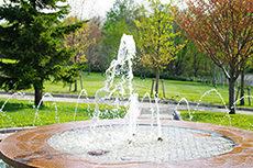噴水のフリー写真素材
