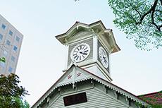 札幌市時計台のフリー写真素材