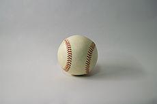 野球ボールのフリー写真素材