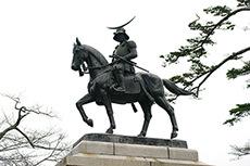 伊達政宗像のフリー写真素材