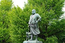 西郷隆盛像のフリー写真素材