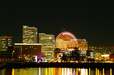 night view in Yokohama