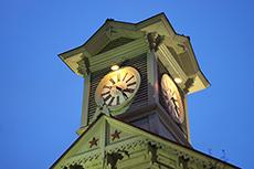 札幌時計台のフリー写真素材