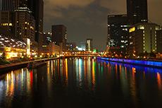 night view in Osaka