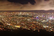 night view in Sapporo