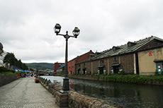 小樽運河のフリー写真素材