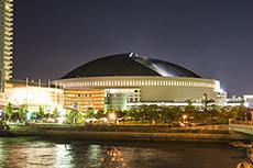 福岡ドーム(福岡ヤフオク!ドーム)のフリー写真素材