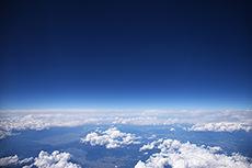 空撮(空・雲)のフリー写真素材