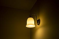 ルームランプのフリー写真素材