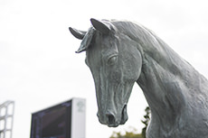 bronze statue of horse