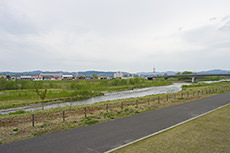 旭川駅南広場からの風景のフリー写真素材
