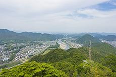 岐阜城天守から見る岐阜の風景のフリー写真素材