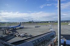 新千歳空港の飛行機のフリー写真素材